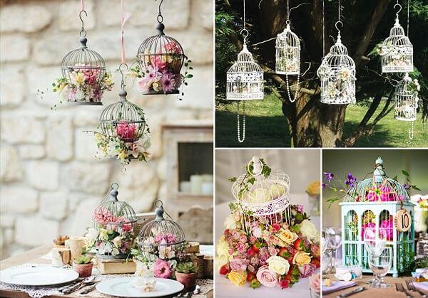 Gaiolas decorativas suspensas encantam a decoração do ambiente