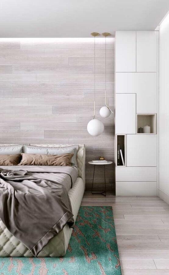 decoração com pendente moderno para quarto Foto Wood Save