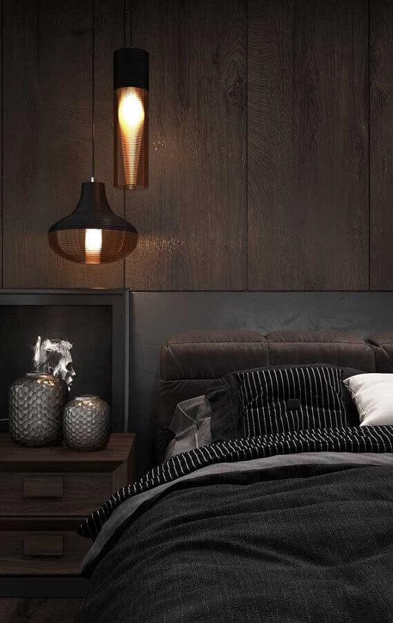 decoração com pendente para quarto Foto Pinterest