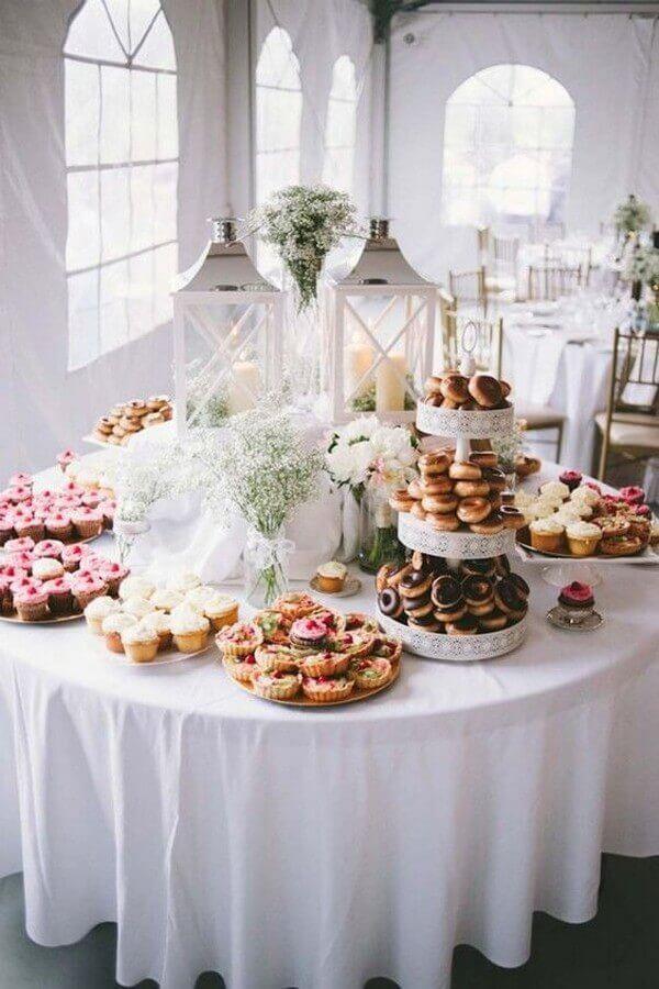 decoração de mesa de guloseimas para casamento Foto Pinterest