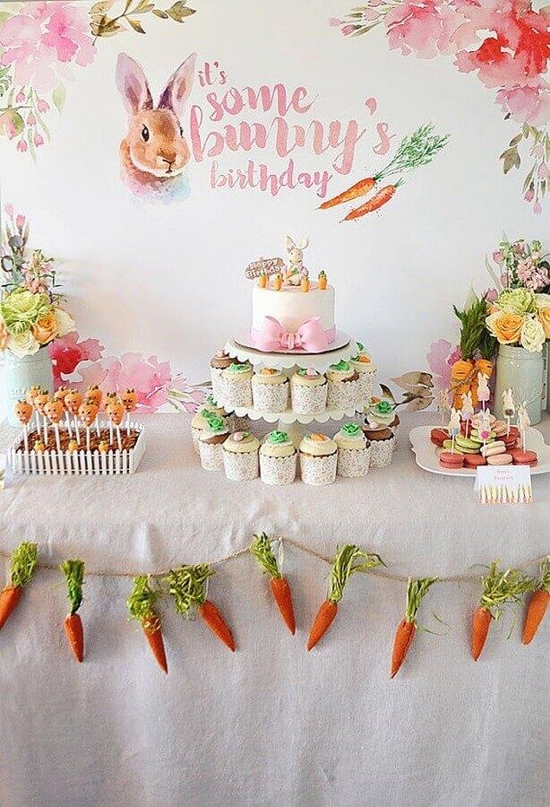 decoração de mesa de guloseimas para pascoa Foto Etsy