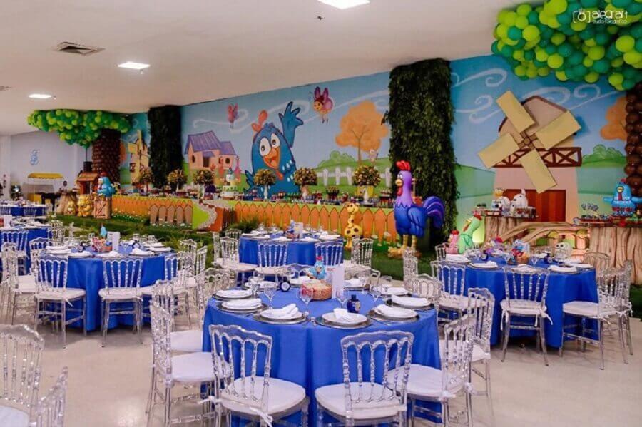 decoração de sala para festa da galinha pintadinha Foto Inove Festas