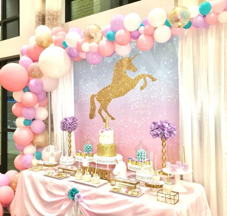 decoração festa unicórnio - tema de aniversário de menina Foto Your Trade Pubs