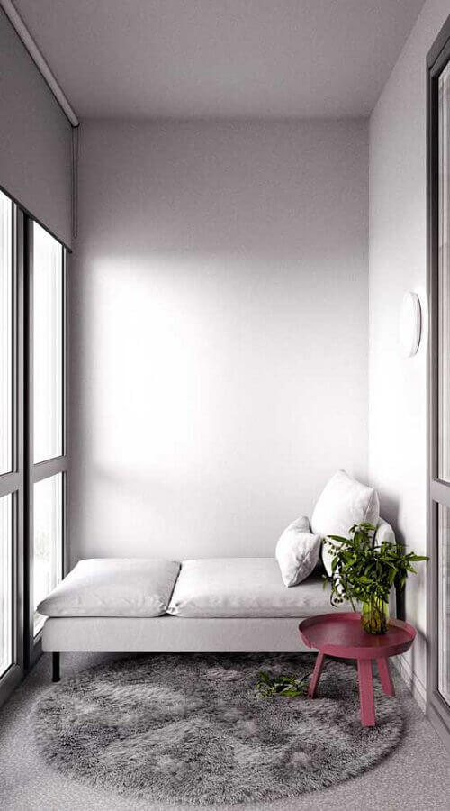 decoração minimalista com mesa lateral cor marsala Foto Pinterest