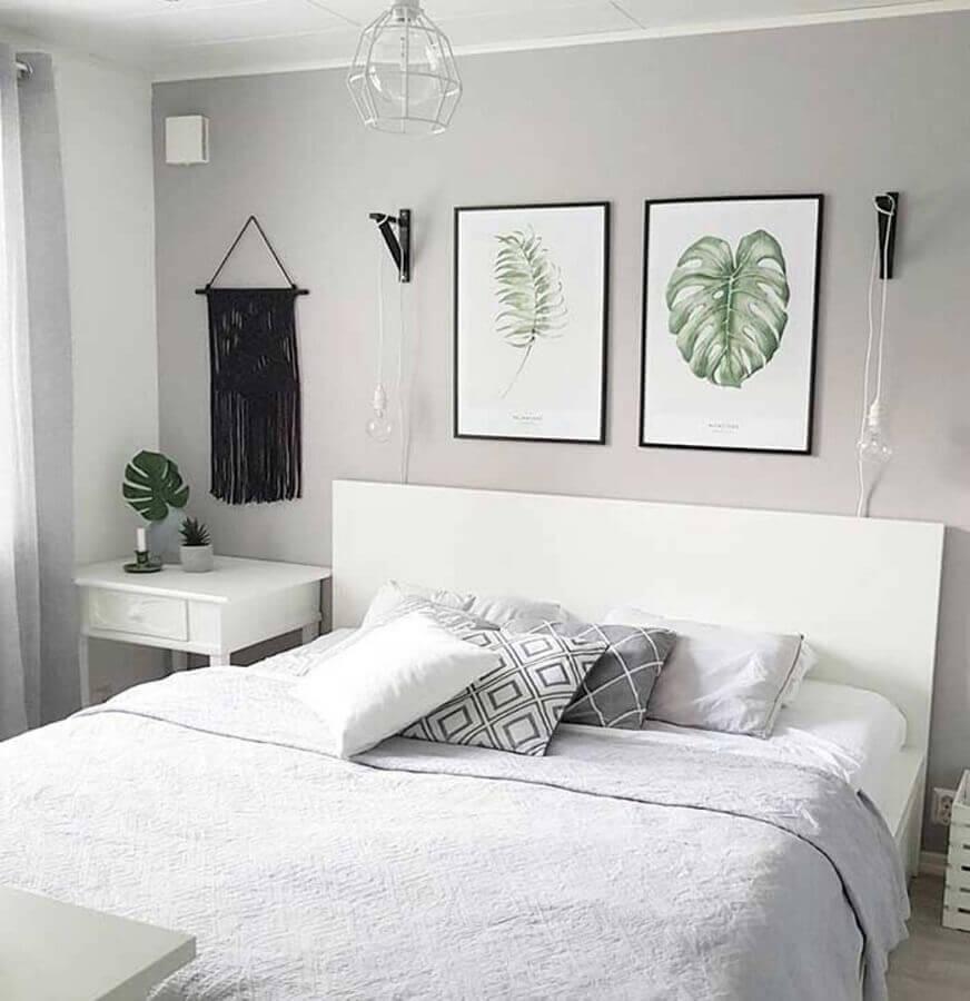 decoração minimalista com quadros decorativos para quarto Foto Pinterest