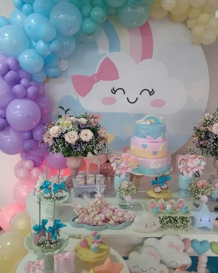 decoração para tema de aniversário chuva de bençãos Foto Blog da Giovanna