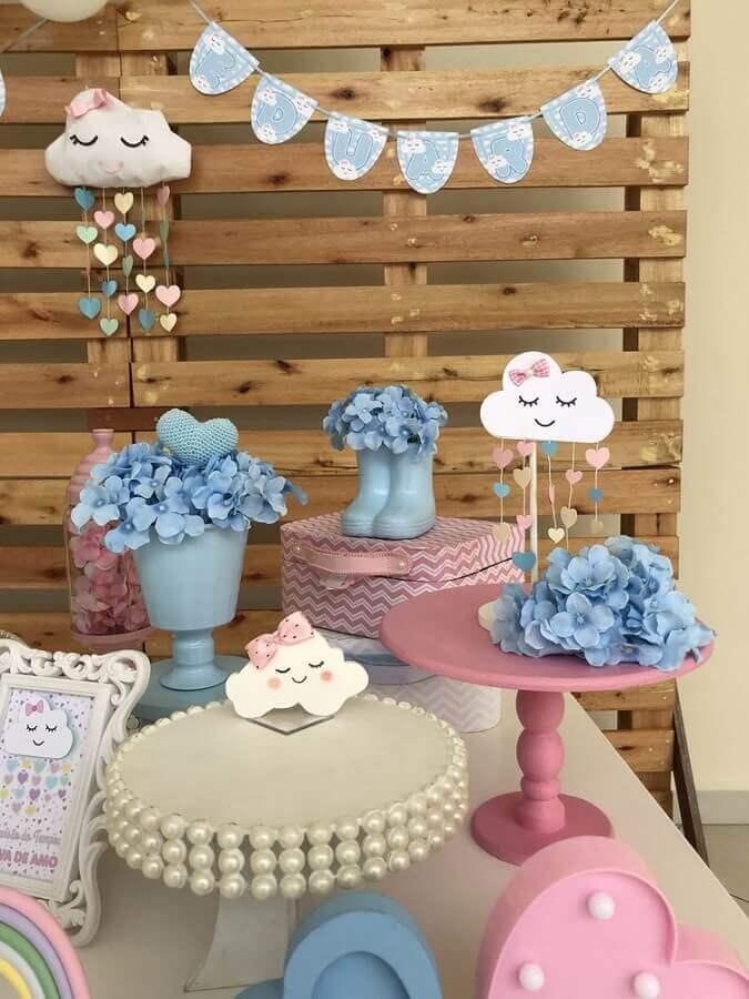 decoração para tema de aniversário de 1 ano Chuva de bençãos Foto Coisas da Maria