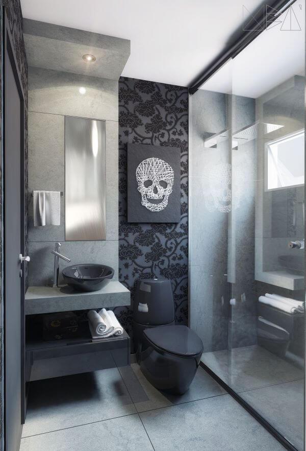 Banheiro com ardósia