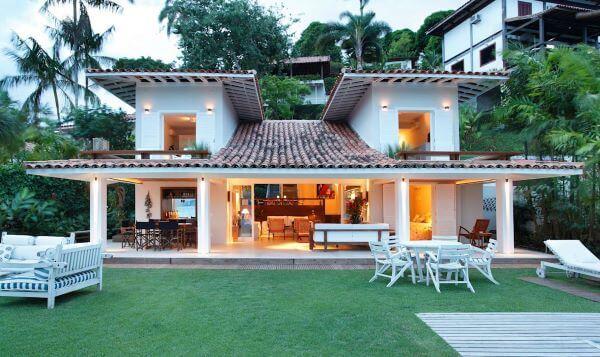 casa de campo com telha colonial