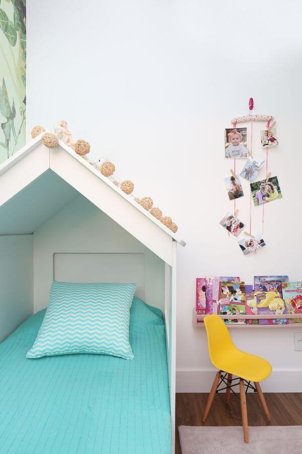 Decoração para quarto de menina com cama casinha