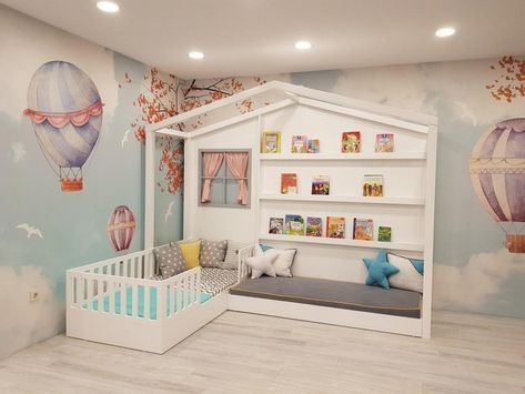 Decoração de quarto com cama casinha branca