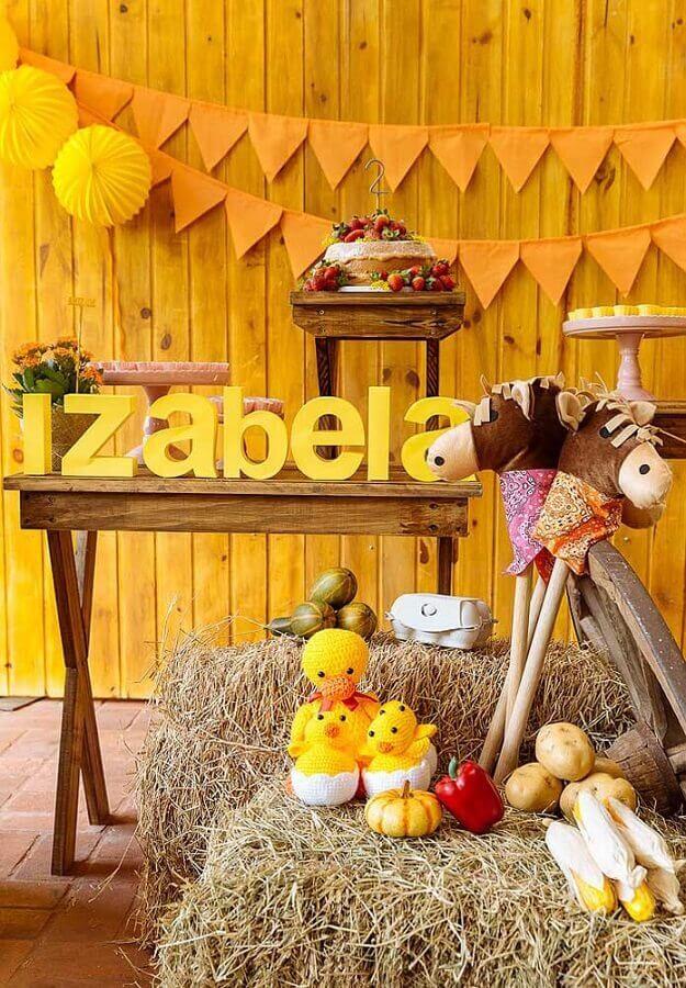 detalhes decorativos para tema de aniversário festa na fazenda Foto Pinterest