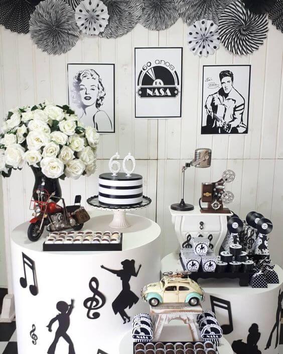 Festa anos 60 estilo Marylin Monroe