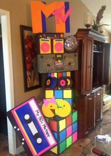 festa anos 80 - decoração de festa 80