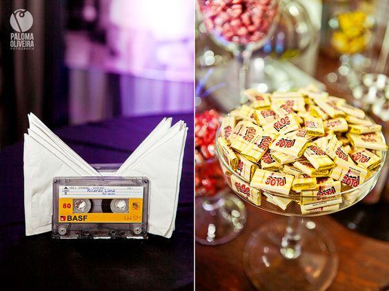 festa anos 80 - detalhes de itens decorativos