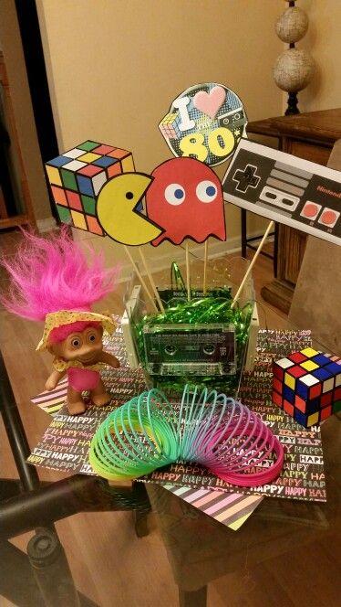 festa anos 80 - itens de mesa para festa