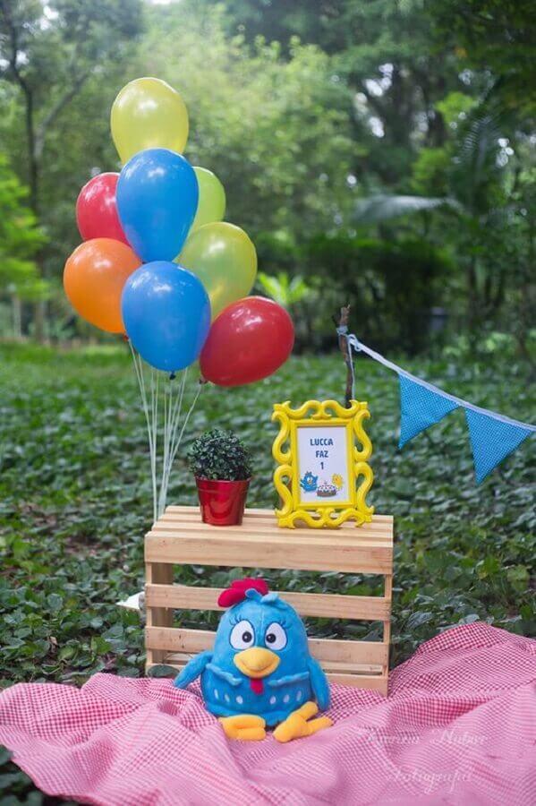 festa da galinha pintadinha simples e barata Foto Karina Nabor Fotografia