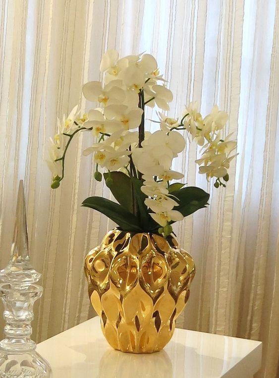 flores artificiais para decoração - arranjo artificial com flores brancas