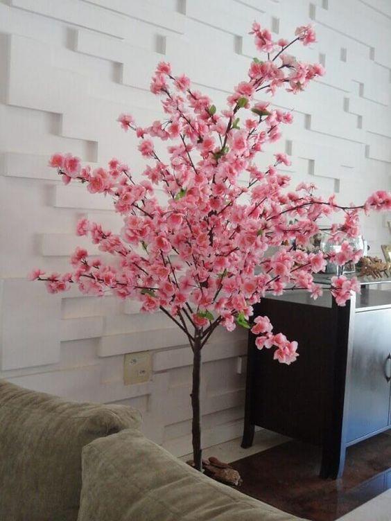 flores artificiais para decoração - arranjo de cerejeira rosa