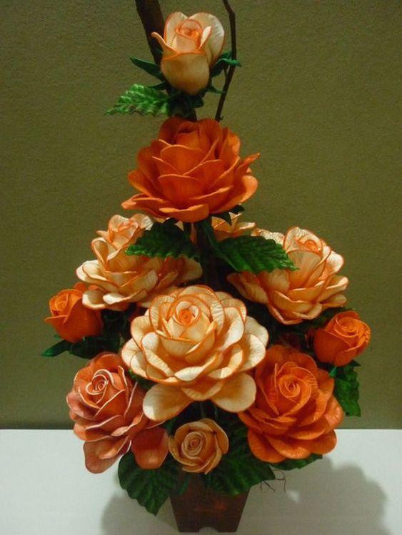 flores artificiais para decoração - flores laranjas