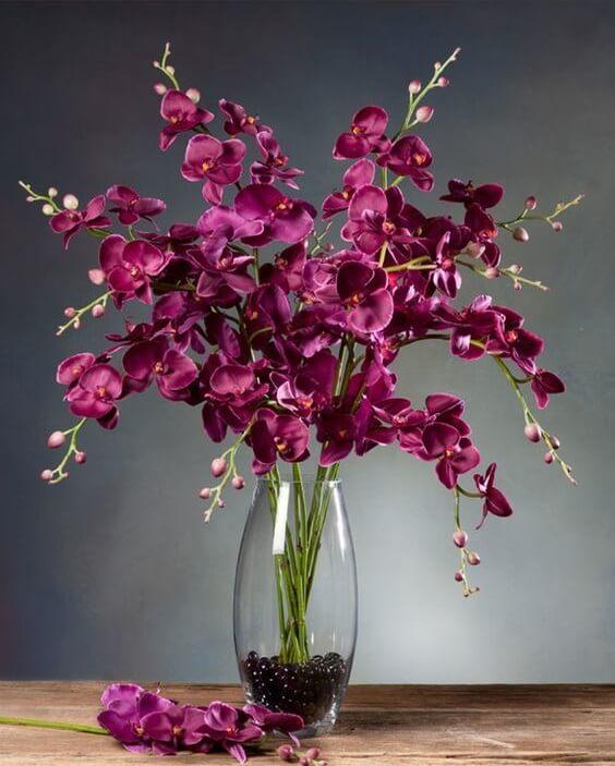 flores artificiais para decoração - orquídea artificial