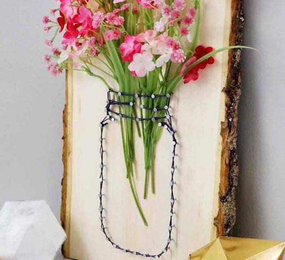 flores artificiais para decoração - quadro rústico com flores artificiais - Decor Fácil