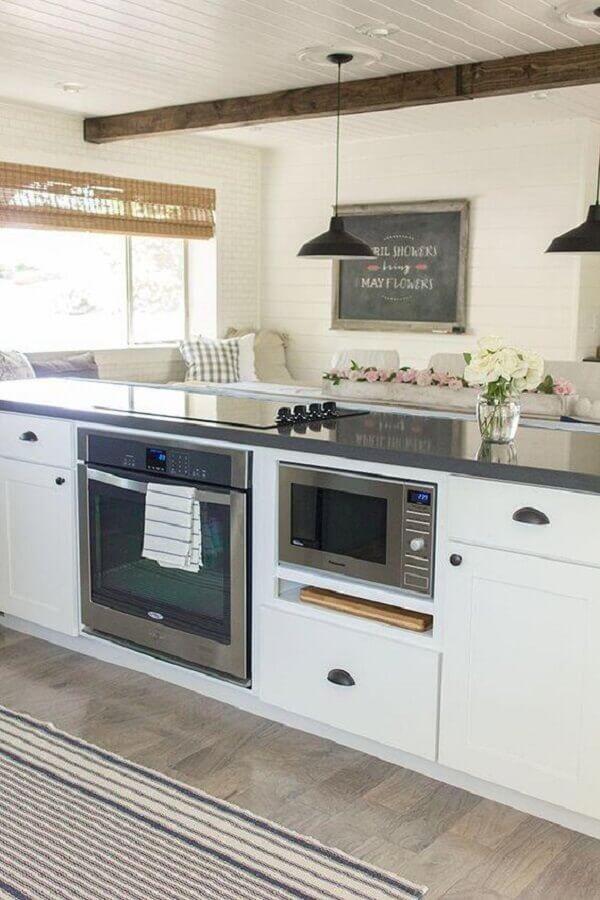 forno elétrico de embutir inox para ilha de cozinha planejada Foto Ennis Realtors & Builders