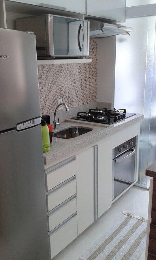forno elétrico embutir inox para cozinha pequena Foto ES Marcenaria