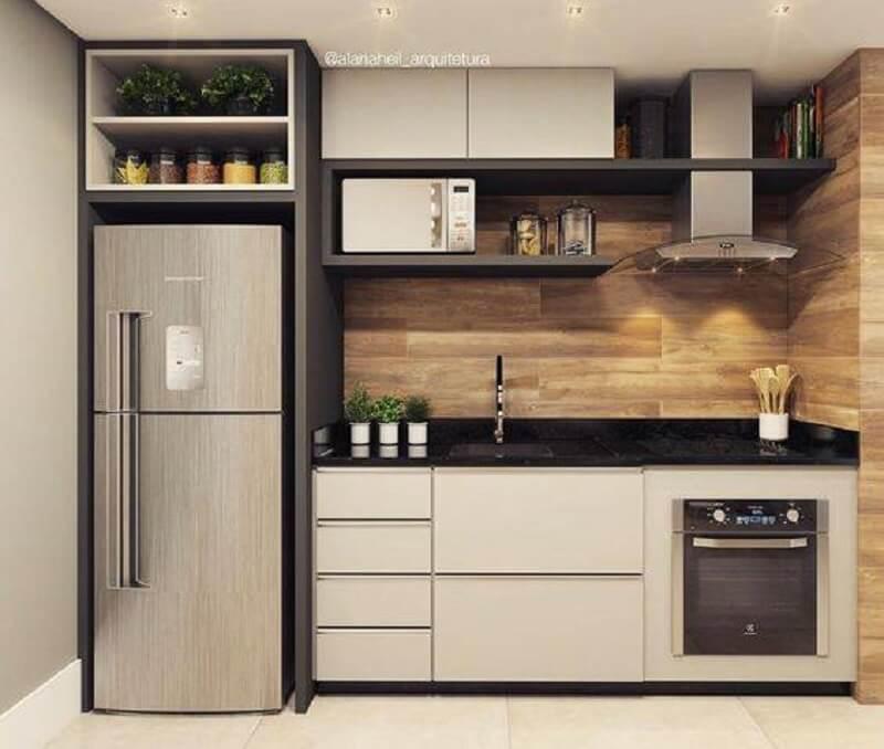 forno elétrico embutir para cozinha pequena planejada Foto Home Solution