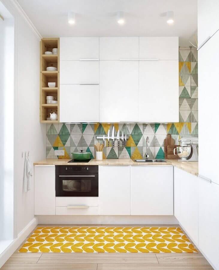 forno elétrico embutir para cozinha planejada branca com azulejo colorido Foto Bricolage Maison et décoration