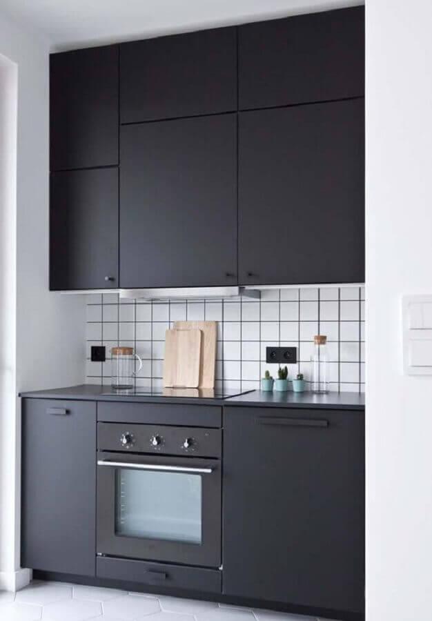 forno elétrico embutir para cozinha preta moderna com acabamento fosco Foto Decoração de Casa