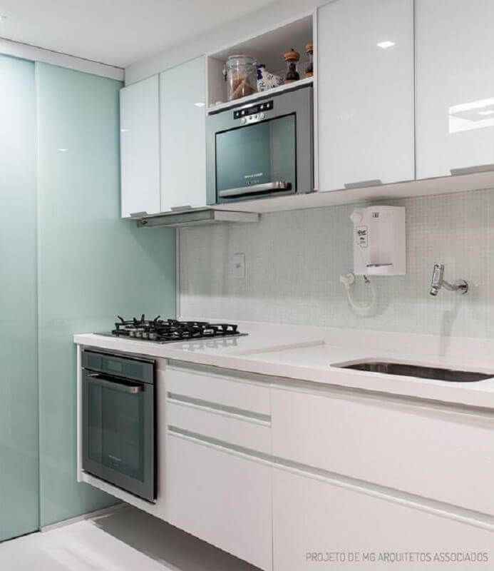 forno elétrico embutir para cozinha toda branca Foto Casa de Valentina