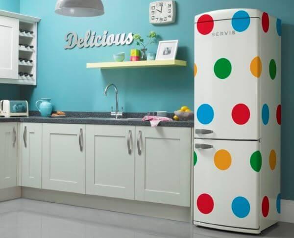 Adesivo geladeira retrô