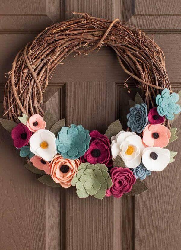 flores de feltro simples