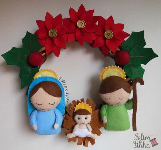 Guirlanda de natal de feltro