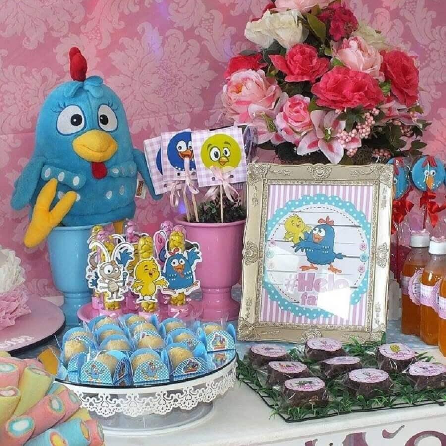 ideias para decoração de festa da galinha pintadinha rosa Foto HappyFest