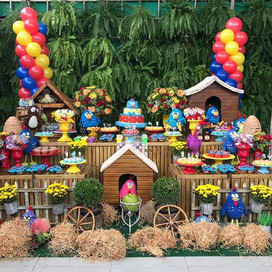 ideias para festa da galinha pintadinha Foto Buffet Wood e Wood em Casa