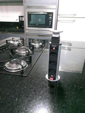 instalação elétrica - cozinha com régua de tomadas
