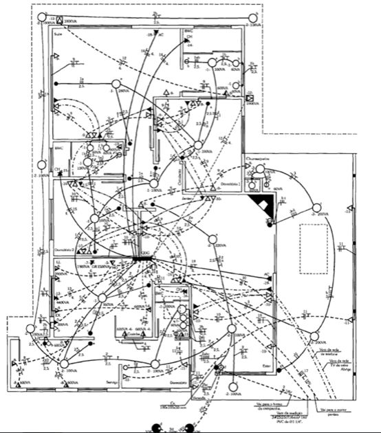 instalação elétrica - projeto de instalação de uma casa grande