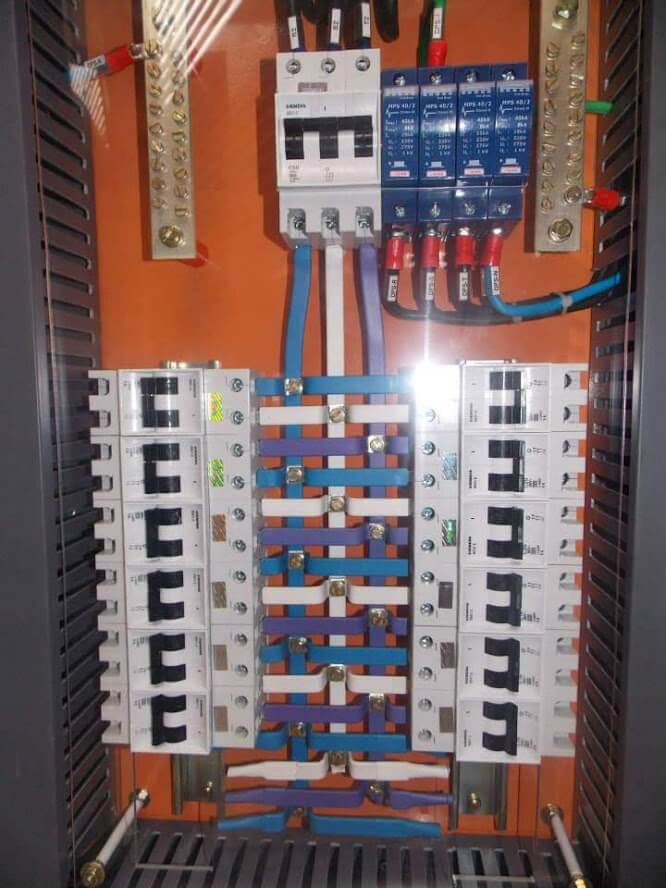 instalação elétrica - quadro de distribuição