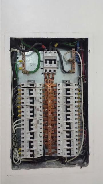 instalação elétrica - quadro de distribuição médio