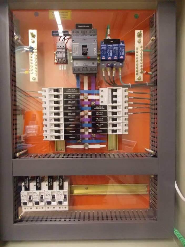 instalação elétrica - quadro de distribuição predial