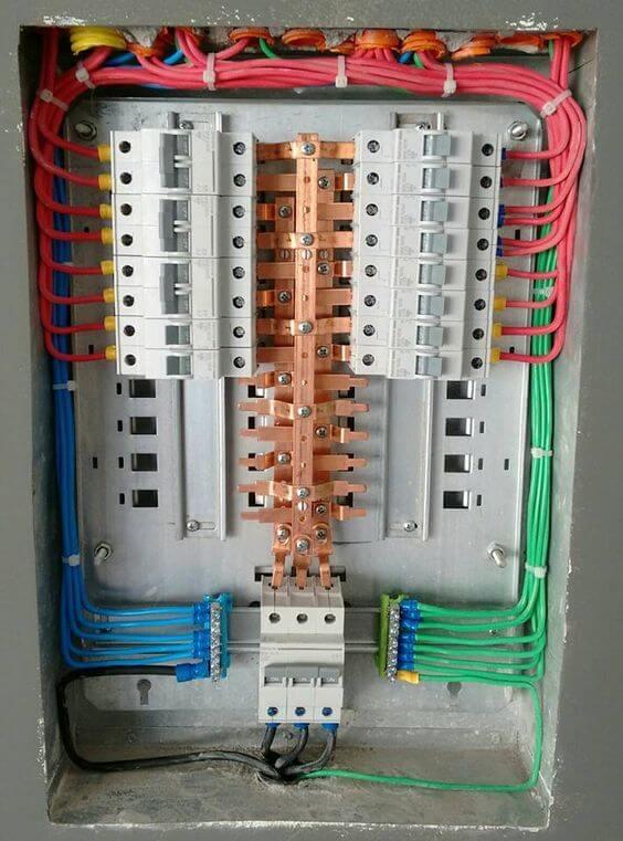 instalação elétrica - quadro elétrico com boa identificação