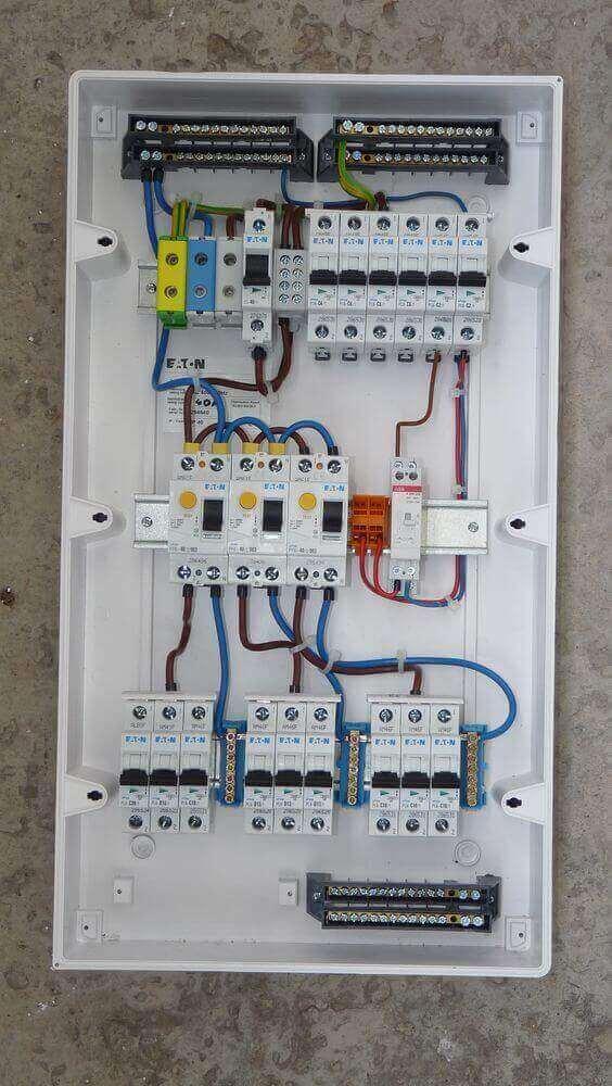 instalação elétrica - quadro elétrico residencial simples