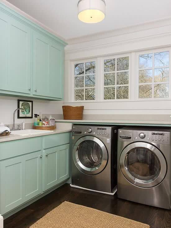 Lavadora de roupas com secadora combinando
