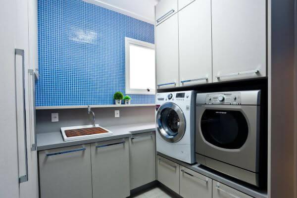 Lavadora de roupas com máquina de lavar inox e secadora