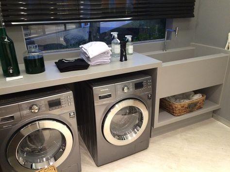 Máquina de lavar inox combinando com a secadora
