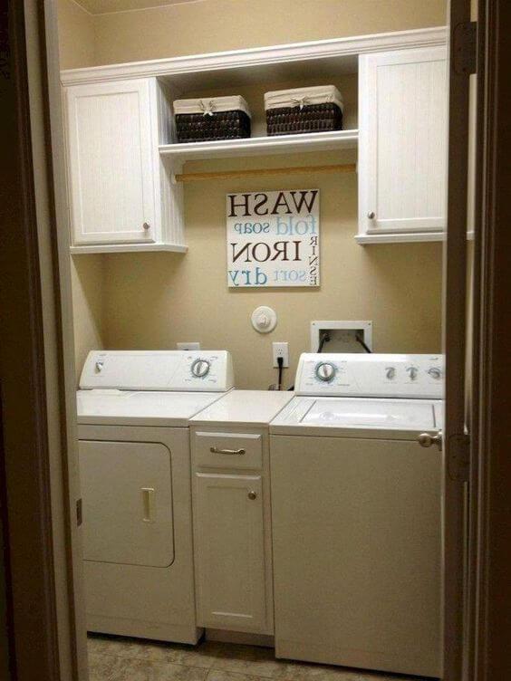 lavadora de roupas com parede