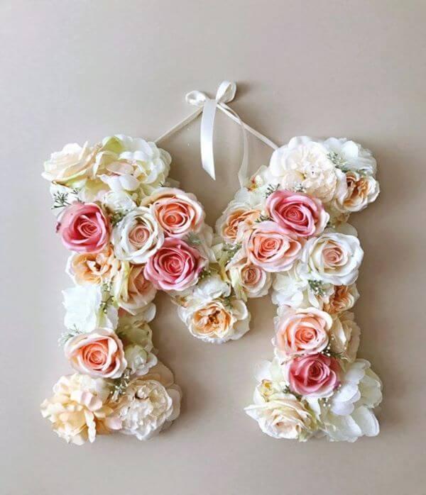 flores para decorar os moldes de letras