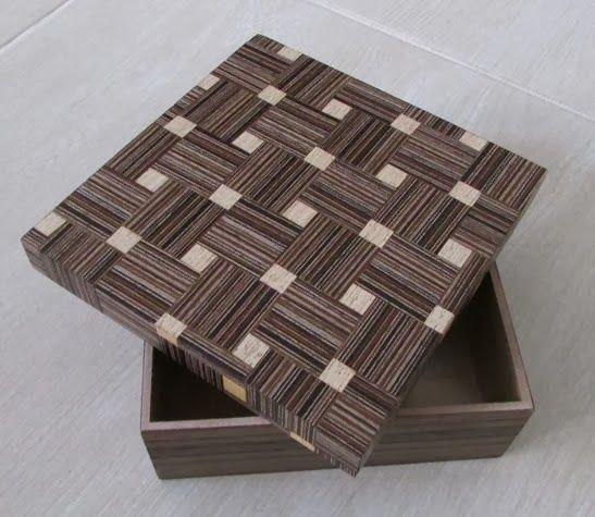 marchetaria - caixa de madeira com tampa em marchetaria